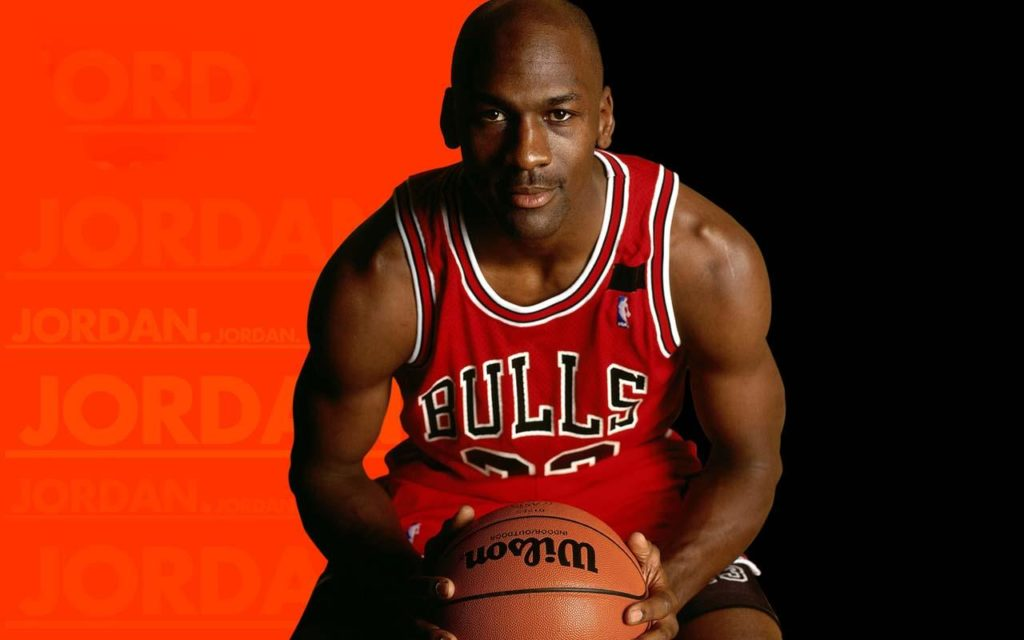 basket player Michael Jordan