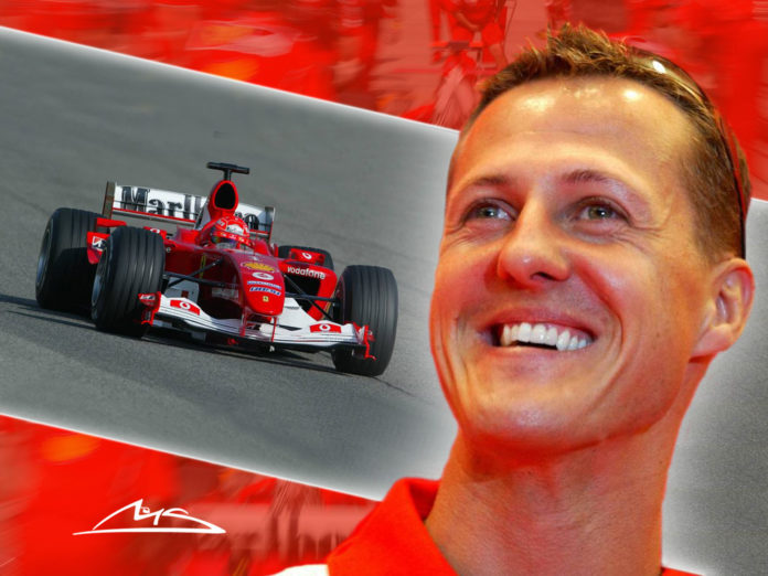 Formula one racer Michael Schumacher